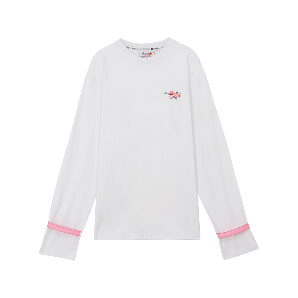 [AW17 Pink Panther] Long Sleeve(White) STEREO-SHOP