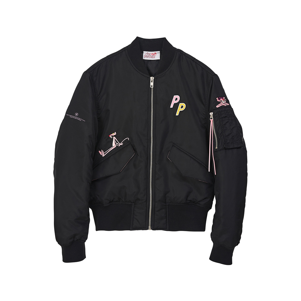 [AW17 Pink Panther] MA-1 Jacket(Black) STEREO-SHOP
