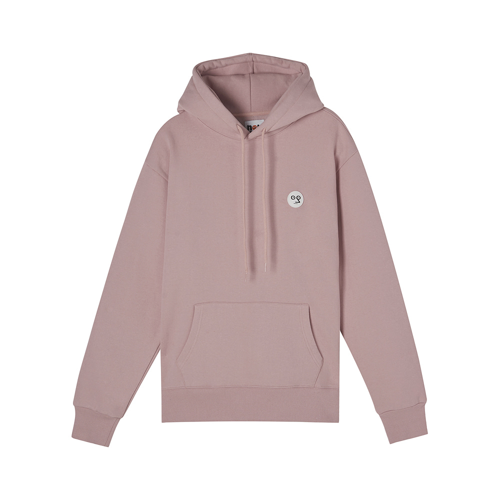 [AW17 NOUNOU] One Point Fleece Hoody(Pink) STEREO-SHOP