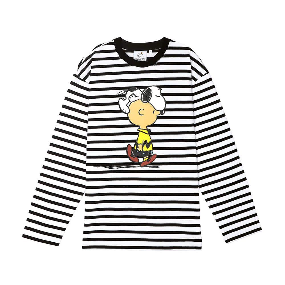 [SS18 Peanuts] Stripe Long Sleeve(White) STEREO-SHOP