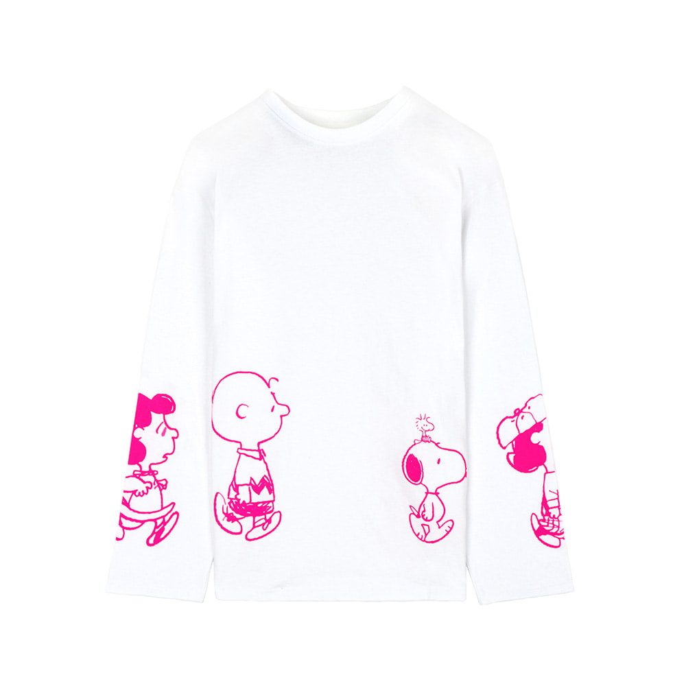 [SS18 Peanuts] Friends Long Sleeve(White) STEREO-SHOP