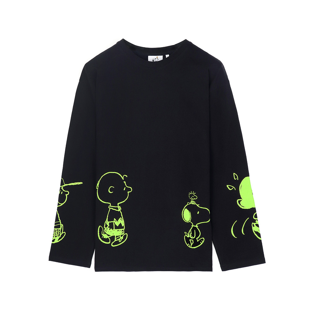 [SS18 Peanuts] Friends Long Sleeve(Black) STEREO-SHOP