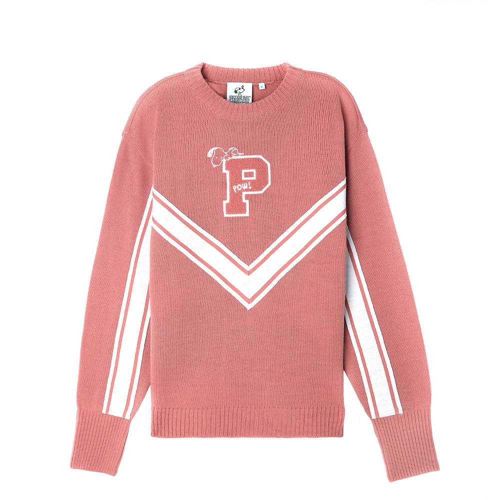 [SS18 Peanuts] P Knit(Pink) STEREO-SHOP
