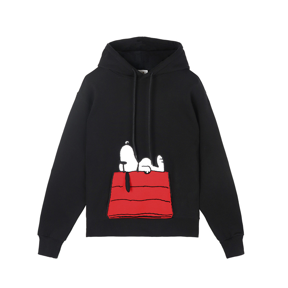 [SS18 Peanuts] Snoopy House Hoody(Black) STEREO-SHOP