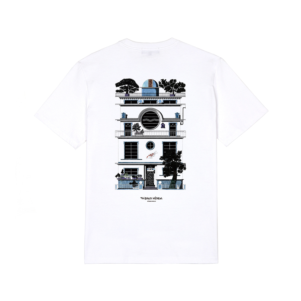 [SS18 Thibaud] La Carpe T-Shirts(White) STEREO-SHOP