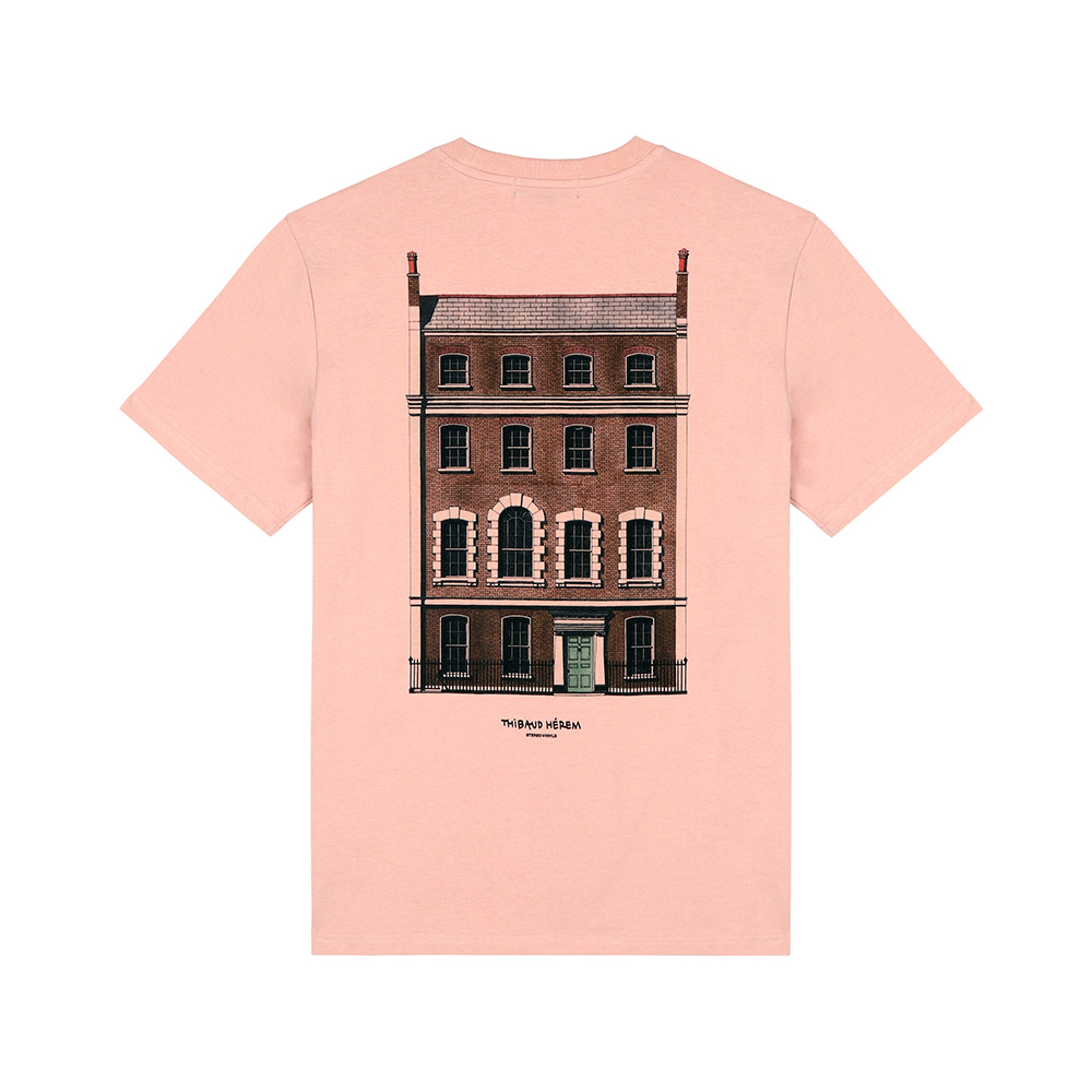 [SS18 Thibaud] 76 Dean Street T-Shirts(Pink) STEREO-SHOP
