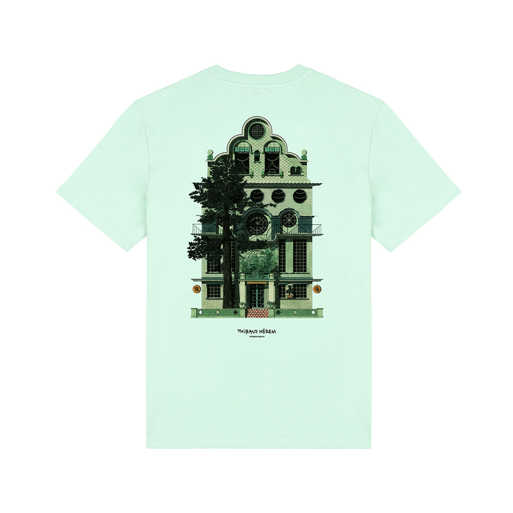 [SS18 Thibaud] La Tortue T-Shirts(Mint) STEREO-SHOP