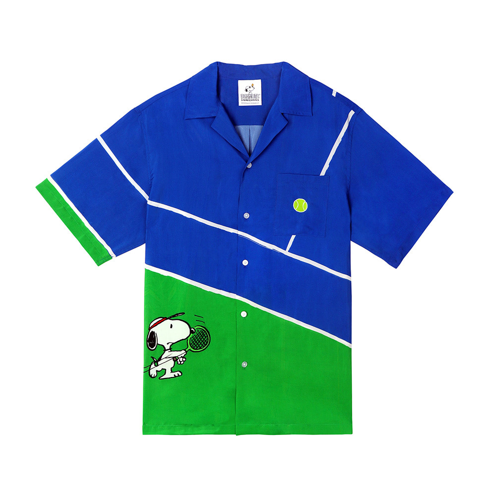 [SM18 Peanuts] Tennis Shirt(Blue) STEREO-SHOP