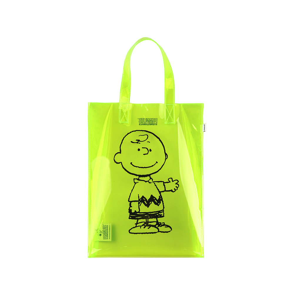 [SM18 Peanuts] Clear PVC Bag(Green) STEREO-SHOP
