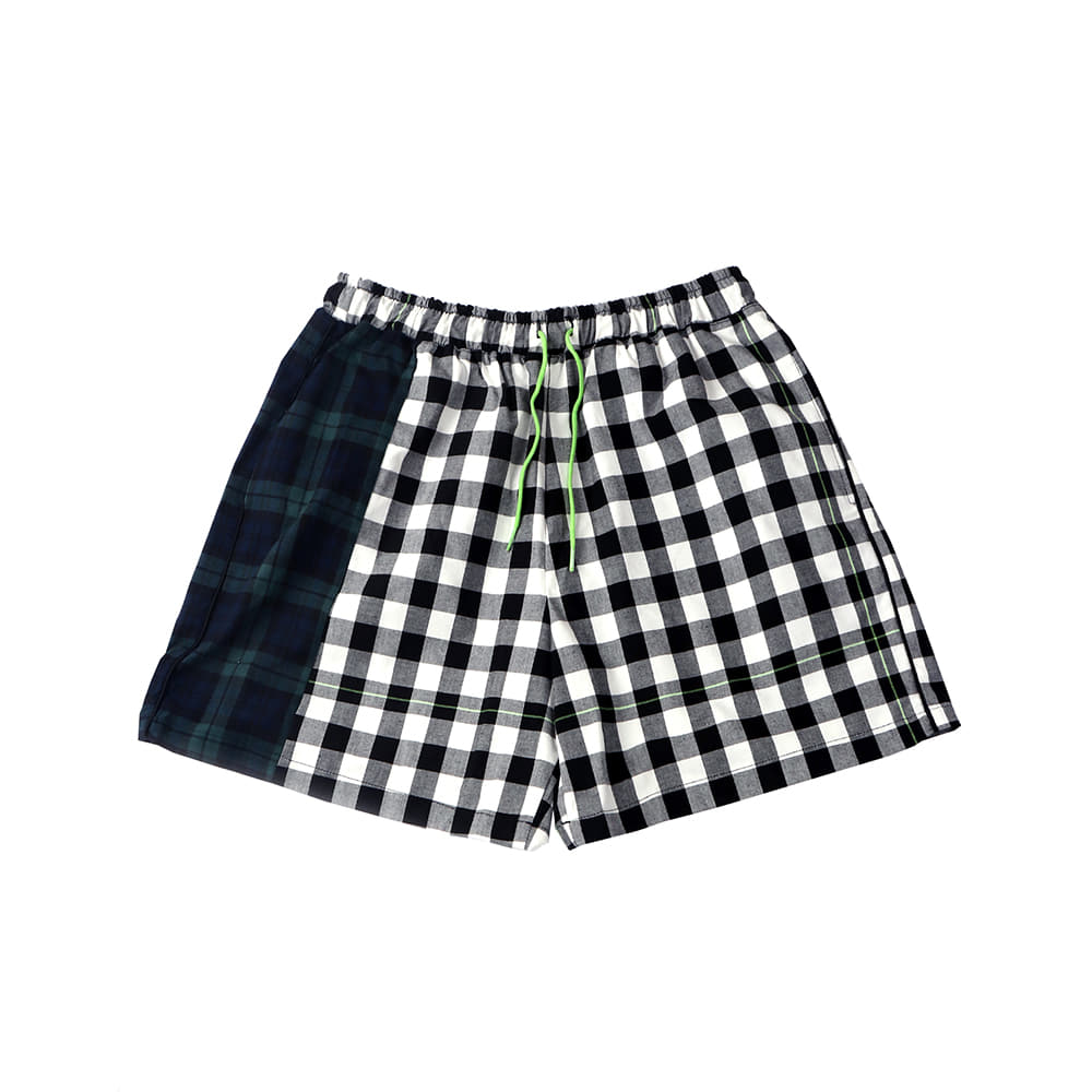 [SM18 Peanuts] Check Short Pants(Black) STEREO-SHOP