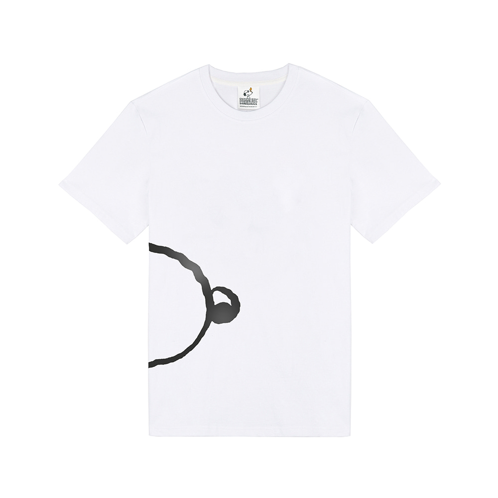 [SM18 Peanuts] Snoopy Oversized T-Shirts(White) STEREO-SHOP