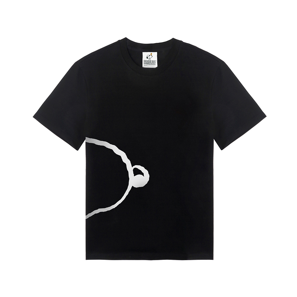 [SM18 Peanuts] Snoopy Oversized T-Shirts(Black) STEREO-SHOP