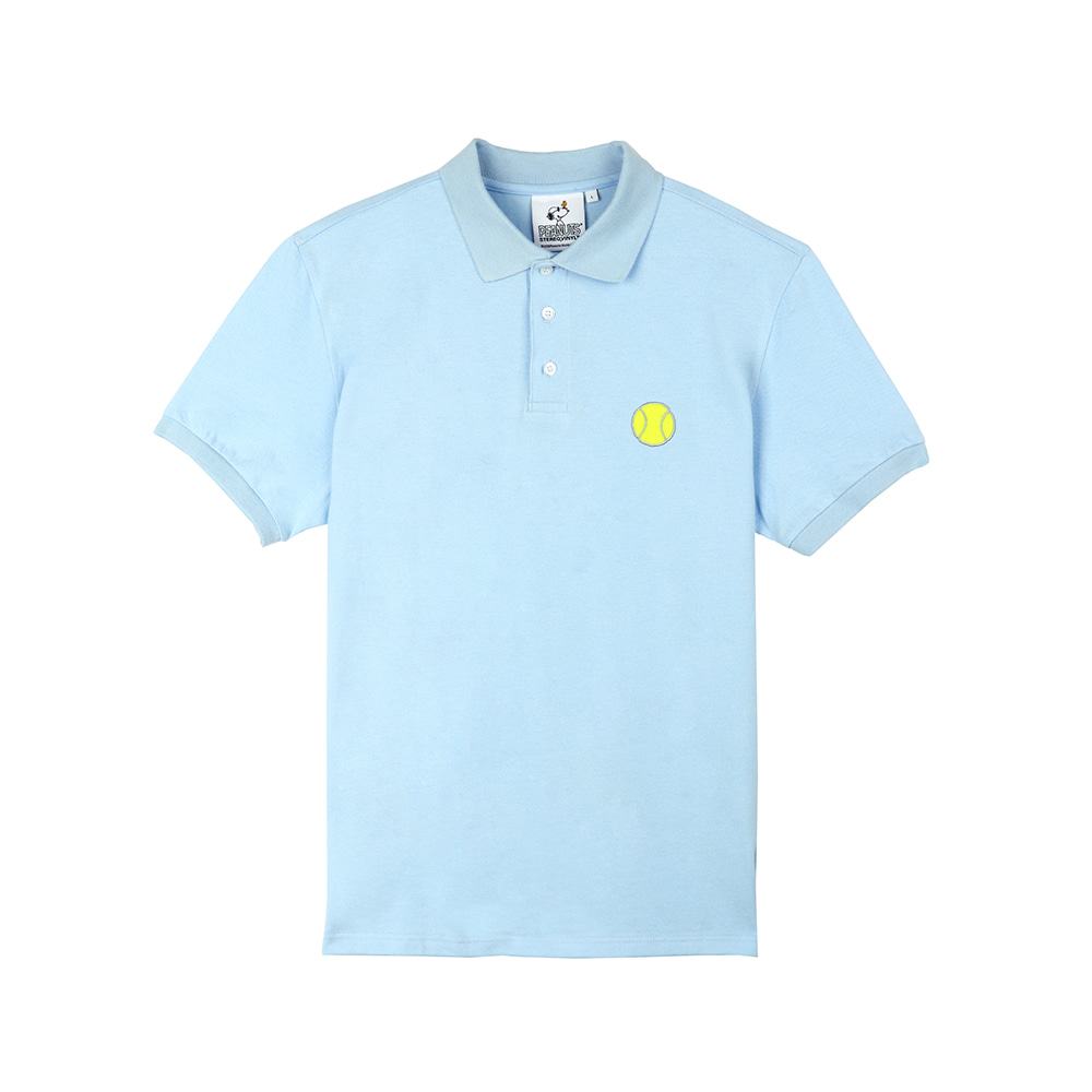 [SM18 Peanuts] Tennis Pique Shirts(Blue) STEREO-SHOP