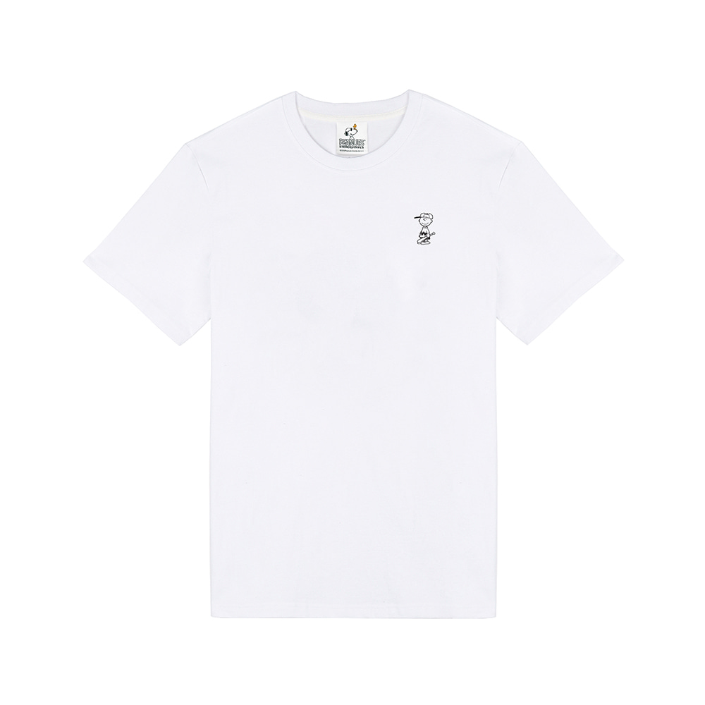[SM18 Peanuts] Charlie Point T-Shirts(White) STEREO-SHOP