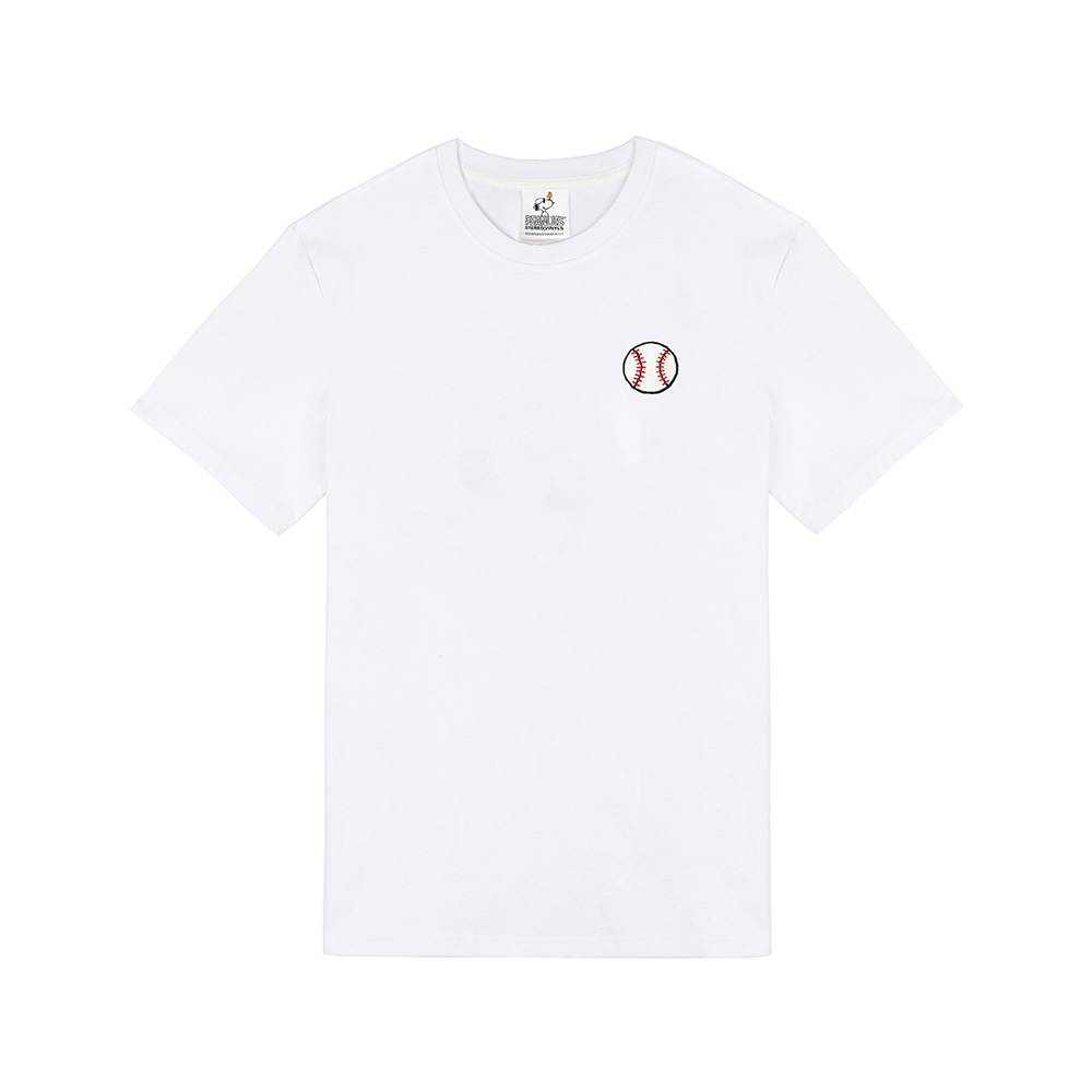 [SM18 Peanuts] Baseball T-Shirts(White) STEREO-SHOP