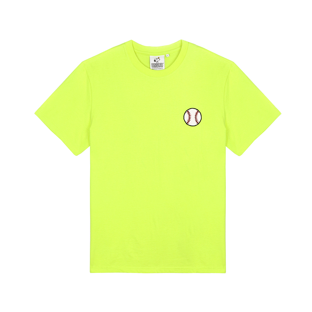 [SM18 Peanuts] Baseball T-Shirts(Green) STEREO-SHOP