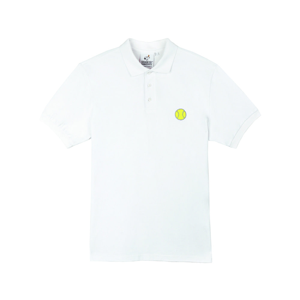 [SM18 Peanuts] Tennis Pique Shirts(White) STEREO-SHOP