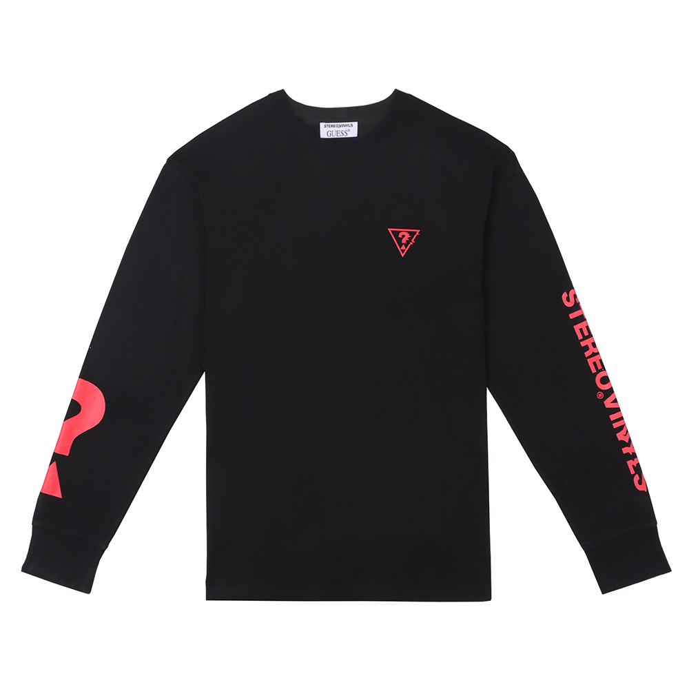 [18FW STEREO X GUESS] Long sleeve TS(Black) STEREO-SHOP
