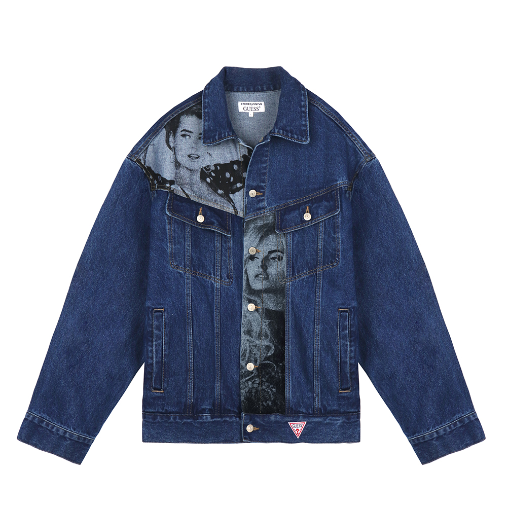 [18FW STEREO X GUESS] Overfit Denim Jacket(Blue) STEREO-SHOP