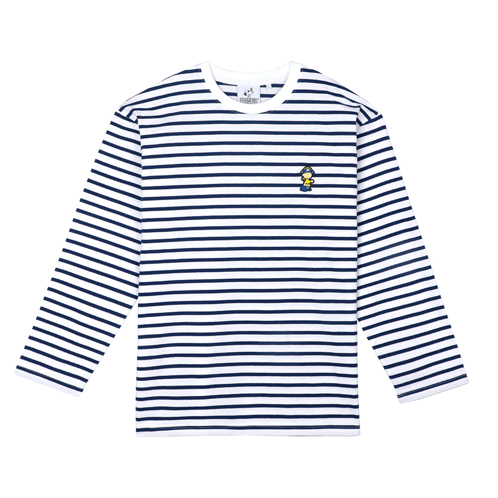 [FW18 Peanuts] Stripe Roundneck Long Sleeve(Navy) STEREO-SHOP
