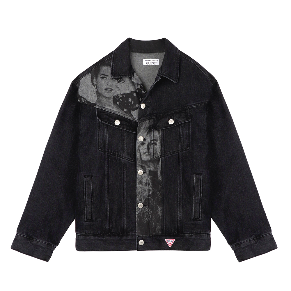 [18FW STEREO X GUESS] Overfit Denim Jacket(Black) STEREO-SHOP
