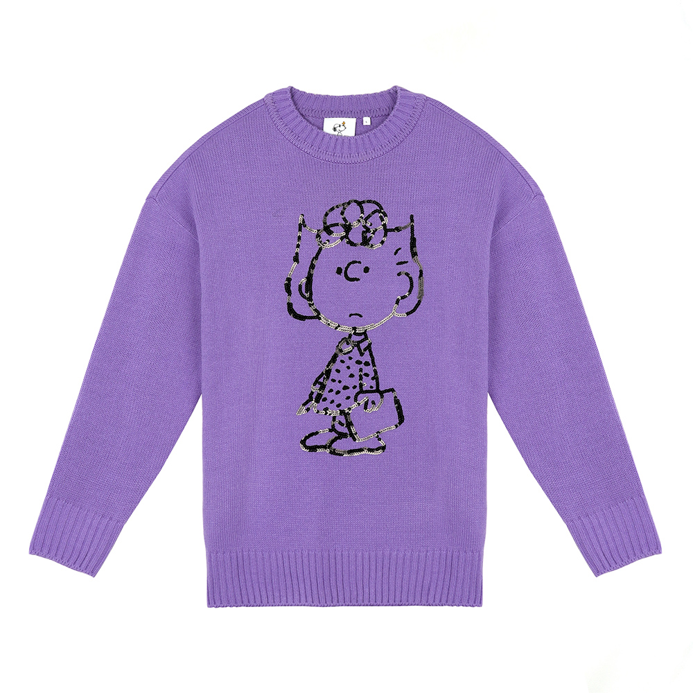 [FW18 Peanuts] Pullover Knit(Lavender) STEREO-SHOP