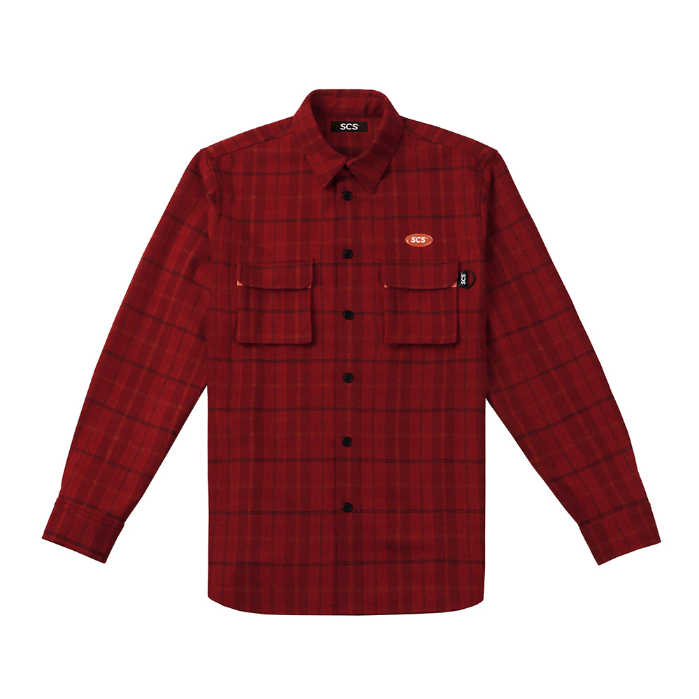 [FW18 SCS] Logo Flannel Shirt(Red) STEREO-SHOP